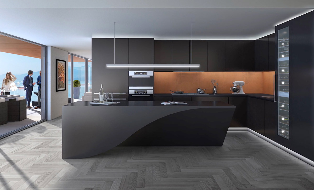 Create a Chic, Modern Black Kitchen
